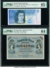 German States Bank of Saxony 100 Mark 2.1.1911 Pick S952b PMG Choice Uncirculated 64 EPQ. Estonia Bank of Estonia 100 Krooni 1991 (ND 1992) Pick 74a P...