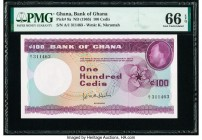 Ghana Bank of Ghana 100 Cedis ND (1965) Pick 9a PMG Gem Uncirculated 66 EPQ.   HID09801242017  © 2020 Heritage Auctions | All Rights Reserve