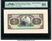 Honduras Banco Atlantida 1 Lempira ND (1932) Pick S121fp1 Front Proof PMG Choice Uncirculated 64. Printer's annotation.  HID09801242017  © 2020 Herita...