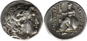 KINGS OF THRACE. Lysimachos (305-281 BC). Tetradrachm. Erythrae. Obv: Diademed head of the deified Alexander right, wearing horn of Ammon. Rev: BAΣΙΛΕ...