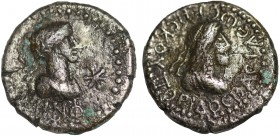 KINGS OF BOSPORUS. Rhescuporis V (242-277). Ae Stater. Obv: BACIΛEOC PHCKOYΠOPIC. Draped bust right; in right field, rosette. Rev: N-N-Φ Laureate, dra...