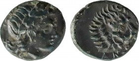 TROAS. Antandros. Ae (4th-3rd centuries BC). Obv: Laureate head of Apollo right. Rev: ANTANΔΡ. Head of lion right; grape bunch below jaw. SNG Ashmolea...