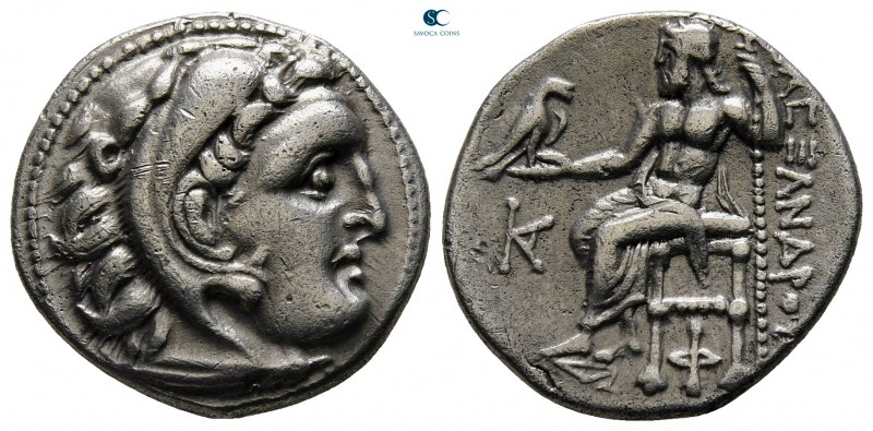 "Kings of Macedon. Kolophon. Alexander III ""the Great"" 336-323 BC. Struck circa 3..."