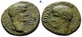 Macedon. Thessalonica. Claudius, with Divus Augustus AD 41-54. Bronze Æ