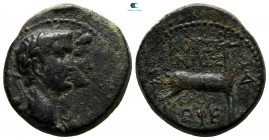 Ionia. Ephesos. Claudius with Agrippina Minor AD 41-54. Bronze Æ