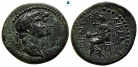 Ionia. Smyrna. Claudius with Agrippina Minor AD 41-54. Bronze Æ