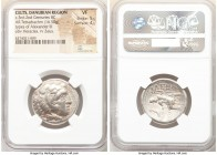 DANUBE REGION. Balkan Tribes. Imitating Alexander III the Great. Ca. 3rd-2nd centuries BC. AR tetradrachm (26mm, 16.50 gm, 9h). NGC VF 5/5 - 4/5. Celt...