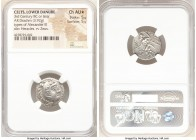 DANUBE REGION. Balkan Tribes. Imitating Alexander III the Great. Ca. 3rd century BC or later. AR drachm (18mm, 3.92 gm, 4h). NGC Choice AU S 5/5 - 5/5...