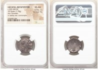 LUCANIA. Metapontum. Ca. 330-280 BC. AR stater (19mm, 7.78 gm, 12h). NGC Choice AU 3/5 - 4/5. Head of Demeter right, hair loose and wreathed in grain ...