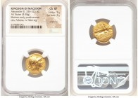MACEDONIAN KINGDOM. Alexander III the Great (336-323 BC). AV stater (19mm, 8.58 gm, 8h). NGC Choice XF 5/5 - 3/5, scratches. Lifetime or early posthum...