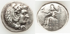 MACEDONIAN KINGDOM. Alexander III the Great (336-323 BC). AR tetradrachm (27mm, 16.74 gm, 11h). Choice VF. Lifetime issue of 'Babylon', ca. 325-323 BC...