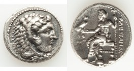 MACEDONIAN KINGDOM. Alexander III the Great (336-323 BC). AR tetradrachm (27mm, 16.50 gm, 8h). Choice VF. Early posthumous issue of Tyre, dated Regnal...