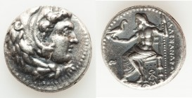 MACEDONIAN KINGDOM. Alexander III the Great (336-323 BC). AR tetradrachm (24mm, 16.98 gm, 8h). About XF. Late lifetime or early posthumous issue of 'B...