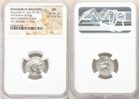 MACEDONIAN KINGDOM. Alexander III the Great (336-323 BC). AR drachm (17mm, 4.31 gm, 12h). NGC MS 5/5 - 4/5. Posthumous issue of Lampsacus, ca. 310-301...