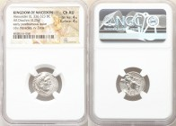 MACEDONIAN KINGDOM. Alexander III the Great (336-323 BC). AR drachm (18mm, 4.25 gm, 9h). NGC Choice AU 4/5 - 4/5. Posthumous issue of Sardes, under An...