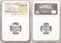 MACEDONIAN KINGDOM. Alexander III the Great (336-323 BC). AR drachm (17mm, 11h). NGC Choice VF. Early posthumous issue of Sardes, ca. 323-319 BC. Head...