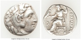 MACEDONIAN KINGDOM. Alexander III the Great (336-323 BC). AR drachm (17mm, 3.89 gm, 12h). VF. Posthumous issue of 'Colophon', ca. 310-301 BC. Head of ...