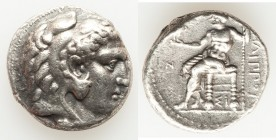 MACEDONIAN KINGDOM. Philip III Arrhidaeus (323-317 BC). AR tetradrachm (25mm, 16.92 gm, 12h). About XF. Lifetime issue of Sidon, dated Regnal Year 13 ...