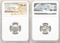 MACEDONIAN KINGDOM. Philip III Arrhidaeus (323-317 BC). AR drachm (16mm, 4.06 gm). NGC AU 4/5 - 3/5. Colophon, ca. 323-319 BC. Head of Heracles right,...