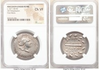 MACEDON UNDER ROME. First Meris. Ca. 167-148 BC. AR tetradrachm (30mm, 12h). NGC Choice VF. Diademed, draped bust of Artemis right, bow and quiver ove...