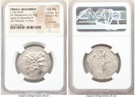 THRACE. Mesambria. Ca. 125-65 BC. AR tetradrachm (30mm, 15.19 gm, 11h). NGC Choice AU 5/5 - 4/5, light marks. Late posthumous issue in the name and ty...