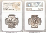 THRACIAN ISLANDS. Thasos. Ca. 2nd-1st centuries BC. AR tetradrachm (30mm, 16.87 gm, 1h). NGC XF 5/5 - 3/5. Ca. 148-90/80 BC. Head of Dionysus right, c...