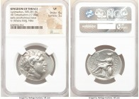 THRACIAN KINGDOM. Lysimachus (305-281 BC). AR tetradrachm (31mm, 17.00 gm, 1h). NGC VF 4/5 - 3/5. Early posthumous issue of uncertain mint. Diademed h...
