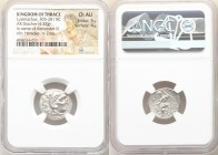 THRACIAN KINGDOM. Lysimachus (305-281 BC). AR drachm (18mm, 4.32 gm, 11h). NGC Choice AU 5/5 - 4/5. Posthumous issue of Colophon, in the name and type...