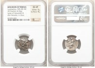 THRACIAN KINGDOM. Lysimachus (305-281 BC). AR drachm (17mm, 4.26 gm, 12h). NGC Choice VF 5/5 - 4/5. Lifetime Alexander types issue of 'Colophon', ca. ...