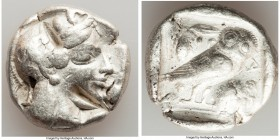 ATTICA. Athens. Ca. 465-455 BC. AR tetradrachm (26mm, 17.19 gm, 3h). Fine, test cuts. Head of Athena right, wearing crested Attic helmet ornamented wi...