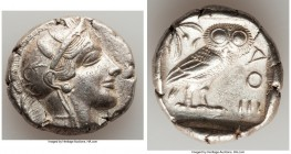 ATTICA. Athens. Ca. 440-404 BC. AR tetradrachm (26mm, 17.20 gm, 4h). Choice XF. Mid-mass coinage issue. Head of Athena right, wearing crested Attic he...