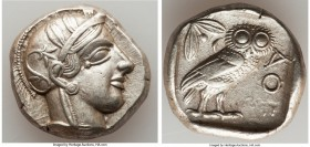 ATTICA. Athens. Ca. 440-404 BC. AR tetradrachm (25mm, 17.17 gm, 4h). XF. Mid-mass coinage issue. Head of Athena right, wearing crested Attic helmet or...