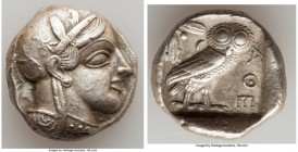 ATTICA. Athens. Ca. 440-404 BC. AR tetradrachm (24mm, 17.15 gm, 9h). Choice VF. Mid-mass coinage issue. Head of Athena right, wearing crested Attic he...