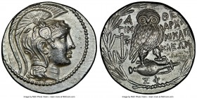 ATTICA. Athens. 2nd-1st centuries BC. AR tetradrachm (30mm, 16.78 gm, 11h). NGC Choice AU 5/5 - 3/5. New Style coinage, ca. 134/3 BC, Timarchos, Nikag...