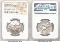 IONIA. Miletus. Ca. late 3rd-early 2nd centuries BC. AR tetradrachm (29mm, 16.87 gm, 1h). NGC XF 5/5 - 4/5. Late posthumous issue in the name and type...