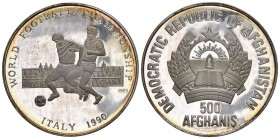 Afghanistan 1990 500 Afghanisin Silber KM 1011 unz ab Proof