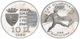 Andorra 1989 10 Diners in Silber 12g KM 56 Proof