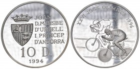 Andorra 1994 10 Diners in Silber 31,4g Olympia in Proof