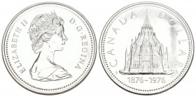 Canada 1976 1 Dollar Silber 23.3g Columbia KM 106 Proof