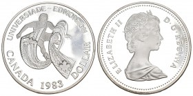 Canada 1983 1 Dollar Silber 23.3g Columbia KM 138 Proof