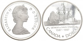 Canada 1987 1 Dollar Silber 23.3g Columbia KM 154 Proof