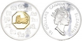 Canada 1998 15 Dolalr Silber 33.6g Selten KM 340 Proof