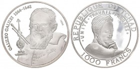 Chad 1999 1000 Frabcs Silber 15g KM NEW Proof