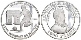 Chad 2002 1000 Francs Silber 20.15g selten KM 23 Proof