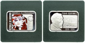 Armenia 100 Dram 2010 Teodor Axentowicz. Silver. KM 271. With Origanal Pack