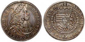 Austria 1 Thaler 1668 Hall. Leopold I(1657-1705). Averse: With lion's head in shoulder drapery. Reverse Legend: ARCHID: AVST: -DVX. BV: CO: TYR. Silve...