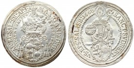 Austria Salzburg 1 Thaler 1668 Maximilian Gandolph(1668-1687). Averse: Madonna and child above Cardinals' hat and shield. Averse Legend: MAX: GAND: D:...