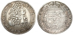 Austria 1 Thaler 1698 Hall. Leopold I(1657-1705). Averse: Old laureate bust right in inner circle. Averse Legend: LEOPOLDVS • D: G: ROM: IMP: SE: A: G...