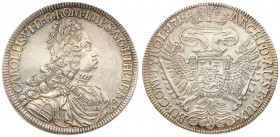 Austria 1 Thaler 1719 Charles VI(1711-1740 ). Averse: Legend begins at lower left. Averse Legend: CAROLUS • VI • D: G: ROM: IMP: S: A: G: HI: HU: B: R...