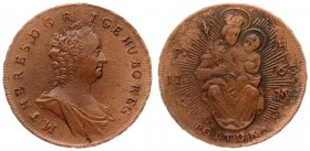 Austria Hungary 1 Poltura 1763 KB PH-KM Maria Theresia(1740-1780). Averse: Bust right. Averse Legend: M • THERES • D • G • R • ....Reverse: Madonna an...